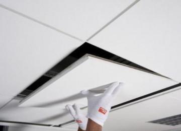 Монтаж подвесного акустического потолка
